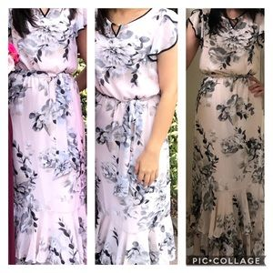 Calvin Klein Maxi dress - blush pink floral XS
